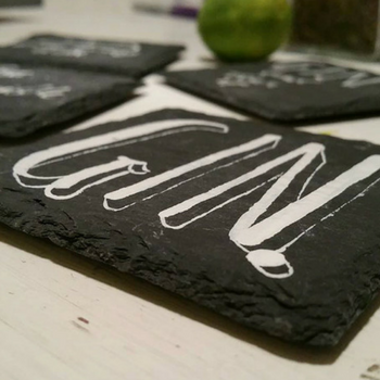 Hand Painted Gin Coasters Gifts